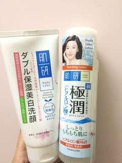 Hada Labo Cleanser & Hydrating lotion
