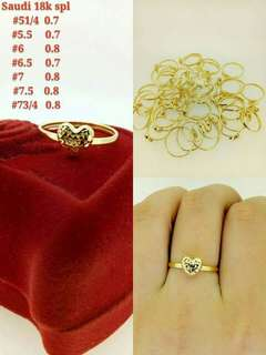 18k saudi gold ring (lightweight)