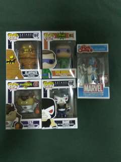 Funko Pop and Rock Candy Lot! 5pcs.