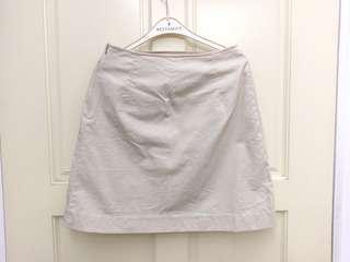 🚚 米色拉鍊短裙