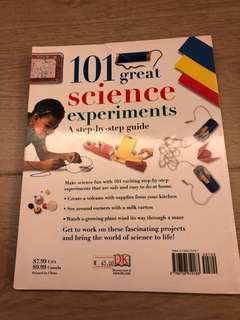 101 Great science experiment 兒童科學圖書 95% new