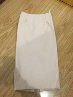 Light pink long tube skirt
