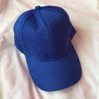 Unisex Blue Plain Baseball Hat - brandnew