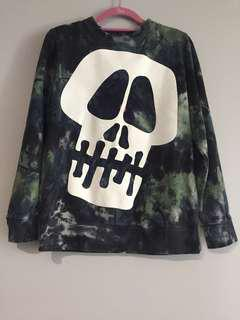 (USED) Stussy Skull Tie Dye Sweater (Men's S)
