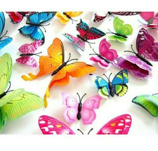 (DOUBLE LAYER) Butterfly wall sticker