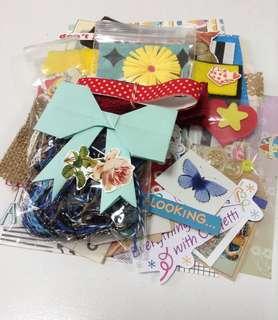 🚚 Paper and Embellishments Grab Bag/Inspiration Pack/scrapbook paper