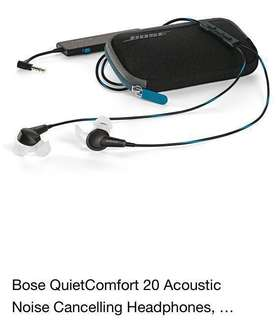 Bose QC20 noise cancellation 🎧