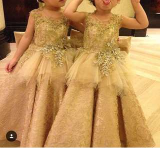 Dress kembar gold (2pcs)