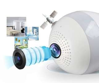 Panoramic IP Camera Light Bulb WiFi Network CCTV