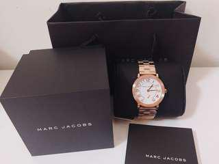 全新 Marc Jacobs MJ 正品 小馬克 玫瑰金 手錶 女錶 MK可參考