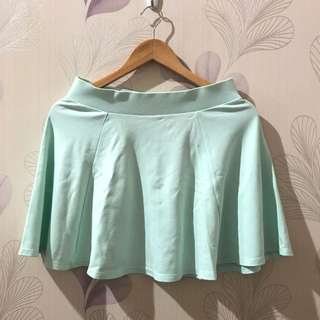 H&M Mint Flare Skirt
