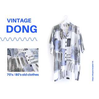🚚 | 咚 咚 Vintage |法式古著- |貓匿文學館|短袖衫