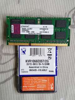 Kingston Laptop Ram  KVR1066D3S7/2G