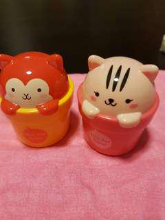 💝2x EMPTY FACE SHOP hand cream small container
