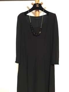 包順豐85% New Giordano Ladies Chiffon Black Dress
