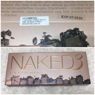 BNIB AUTHENTIC Urban Decay Naked 3 Eyeshadow Palette