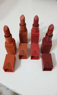 3CE mood recipe lipsticks
