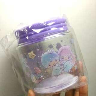 sanrio 雙子星膠樽 食玩收納盒