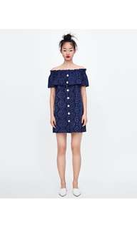 🚚 Europe and the United States embroidery hollow dress