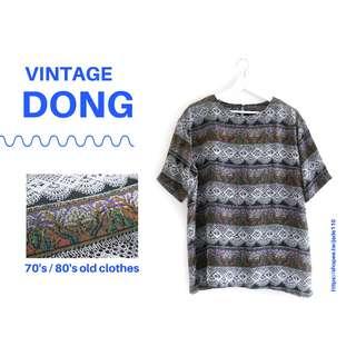 🚚 | 咚 咚 Vintage |韓國古著- 地海草草物語短袖衫