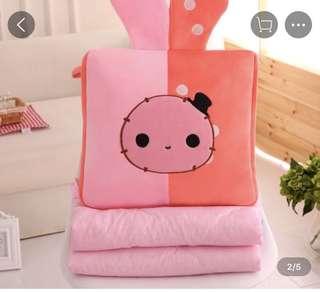 Cute Cartoon Pillow Quilt Blanket Cushion