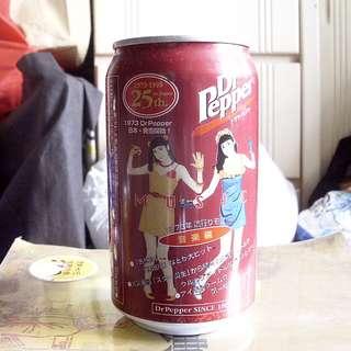 日本Dr.Pepper 25周年音樂主題紀念罐一個