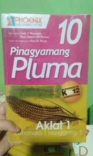 Pinagyamang Pluma Aklat 1&2 Grade 10