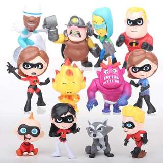 PO Incredibles Figurines