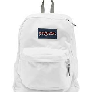 🚚 SUPERBREAK® BACKPACK Jansport 白色後背包