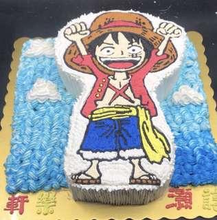 海賊王 路飛蛋糕兩磅