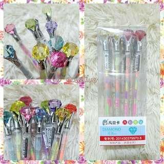 Rainbow diamond pens