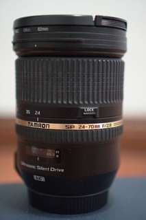 Tamron 24-70 f2.8 lense for Canon