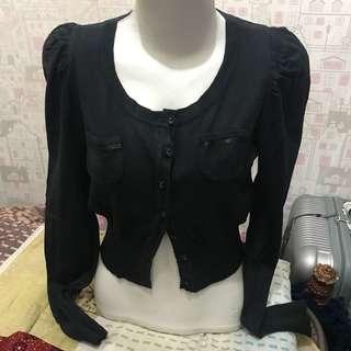 baju panjang atasan hitam wanita