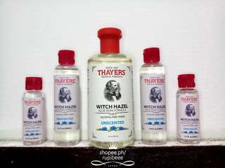 THAYERS ALCOHOL FREE WITCH HAZEL TONER UNSCENTED 50ML 100ML