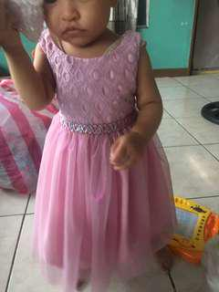 Rare editions pink purple violet dress gown