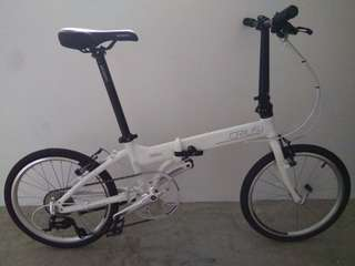 Crius Master V High End Foldable Bicycle only 9.8kg Shimano parts 9 Speed with Litepro parts.