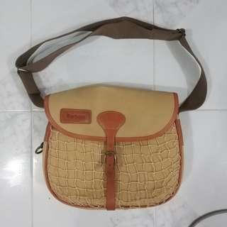 Vintage barbour fishing bag.