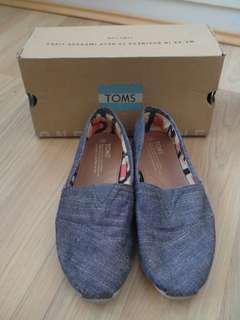 Toms Grey Blue Canvas