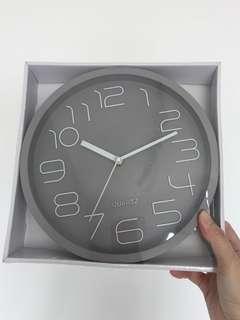 [Brand New] Wall Clock (Grey)