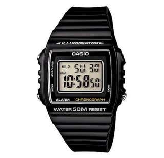 Brand New Casio W-215H-1A Black Resin Watch for Men and Women