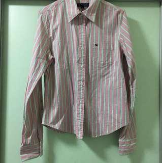 Tommy綠粉條紋襯衫