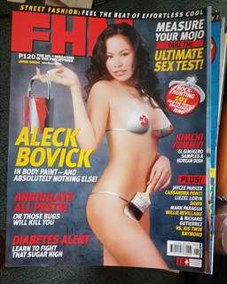 Aleck Bovick on FHM June 2004