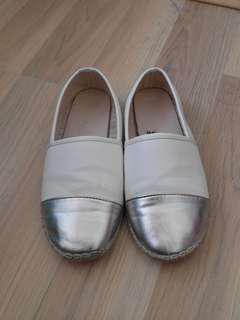 White Silver SlipOns