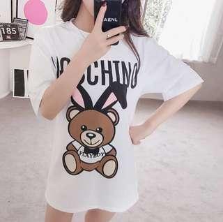 🚚 ♡情侶新款小熊印花T恤♡