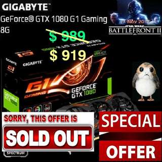 "Gigabyte GTX 1080 G1 Gaming 8G GeForce® ( Special Offer till 23 Apr..18.. Ends, Monday) "" while...stock last.."""