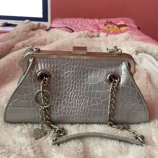 Authentic Ninewest Silver Sling Bag