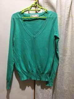 Zara Long Sleeves Green Top