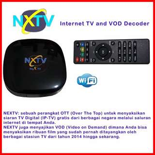 NEXTV Decoder Internet TV Wifi Tanpa Abonemen