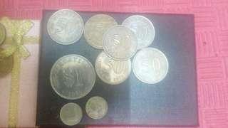 Duit lama 50sen tebelah.singit gold.singit 1877
