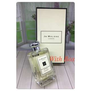 Jo malone nectarine blossom with box 100ml